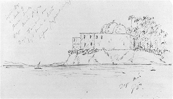 83ca2fc75 Már Girgis, Egypt, April 16 1880, from Burton's Sketchbook.